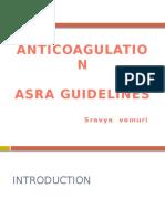 Anticoagulants Asra