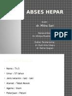 Abses Hepar Slide dr. Mitra sari