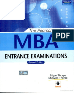 The Pearson Guide to MBA Entrance Examinations