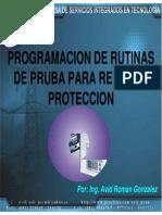 Programacion de Rutinas de Prueba Para Reles de Proteccion