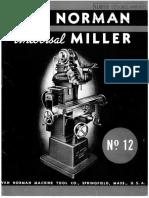 VN12 1940 Universal Mill & Specs Brochure Brochure