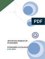 BOBS Standards Catalogue - June 2014 (2)