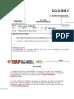 Examen Parcial de Procesos INDUSTRIALES 2016-2