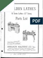 Sheldon M Seris 13in - Parts List