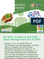 Environment and Social Concerns