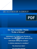 (1)Qualities of a Group