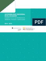 Accesibilidad Universal en el Ecuador. Diagnóstico de las provincias de Imbabura, Pastaza y Santa Elena