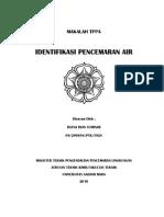 Identifikasi Zat Pencemar Air