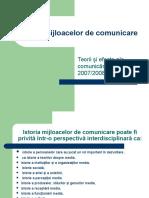 Istoria Mijloacelor de Comunicare