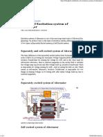 Details of Excitation System of Alternator