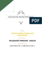 Evolucion Del Proceso Productivo