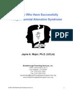Article Pas (Parental Alienation Syndrome)