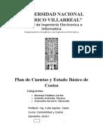 Plan de Cuentas y Estado Basico de Costos.