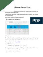 Aplikasi Stok Barang Rumus Excel