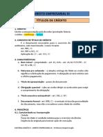 Material Didatico - Titulos de Credito