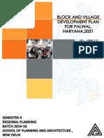 Block and Village Development Plan, Palwal, Haryana