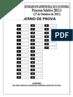 Microsoft Word - Processo Seletivo Mestrado Adm Eco 20131 - Correta