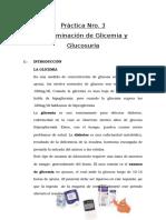 Práctica Nro 3 Determinacion de Glicemia y Glucosuria Bioquimica