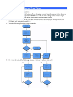 Flowcharting and Trace Tables