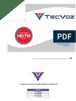 Manual de Instalacao e Operacoes Basicas - Stand Alone HD-TVI