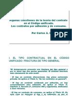 El Contrato de Consumo y El Contrato Por Adhesion en El Codigo Unificado (Carlos a. Hernandez - Mendoza 2015)