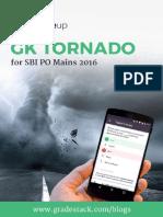 GK Tornado SBI PO Mains 2016 Exam 1