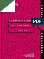 Guide_Concentration Gestion Du Temps