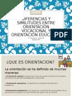 Diferencias y Similitudes Entre Orientación Vocacional y Orientación Equipo 4