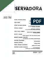 Revista Conservadora No. 10 Jul. 1961