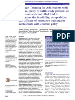 Strength Training for Adolescents With Cerebral Palsy (STAR)- Study Protocol of a Randomised Controlled Trial to Determine the Feasibility, Acceptability and Efficacy of Resistance Training for Adolescents With Cerebral Palsy