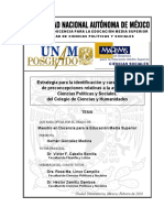 Preconcepciones en Ciencias Sociales - Investigacion de Hernán González Medina