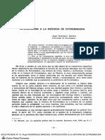 Introducción a la Historia de la Extremadura