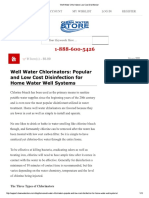 Well Water Chlorinators Low Cost Disinfection
