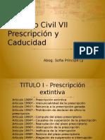 I Sem. de Prescripcion y Caducidad