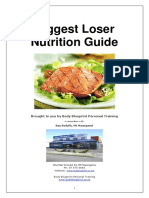 Biggest Loser 12 Week Challenge Nutrition Guide