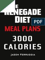 Renegade Diet Meal Plan 3000