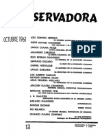 Revista Conservadora No. 13 Oct. 1961
