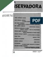 Revista Conservadora No. 14 Nov. 1961