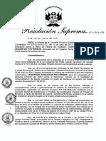 Resolución Suprema sobre extradición a Leonardo Patterson