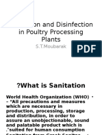 Sanitation and Disinfection in Poultry Processing Plants.pptx