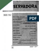 Revista Conservadora No. 16 Ene. 1962