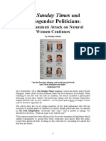 The Sunday Times and Transgender Politicians