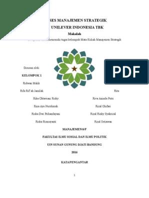 Manajemen Strategik Studi Kasus Pt Unilever