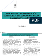 Presentacion Proceso de Transformación Agosto2016