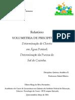 Química Analítica II - Relatório Volumetria de Precipitação.pdf