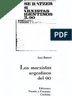 José Ratzer, Los Marxistas Argentinos Del 90 (OCRed)