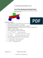 Exercise 7.1 Pt Bending HyperCrash