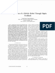 Tele-Operation of a Mobile Robot Through Haptic