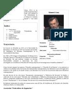 Manuel Cruz - Wikipedia, La Enciclopedia Libre