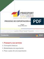 Proceso Exportador Expoartesanias 2013